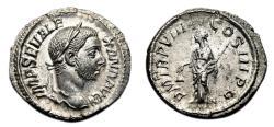 Ancient Coins - SEVERUS ALEXANDER AR Denarius. EF+. Libertas. High Quality!
