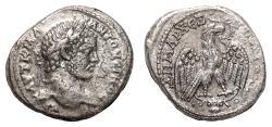 Ancient Coins - CARACALLA AR Tetradrachm. EF-. Carrhae mint.