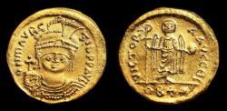 Ancient Coins - MAURICE TIBERIUS AU Solidus. UNC with ORIGINAL BRIGHTNESS. VICTORIA AVGG.
