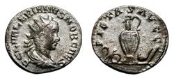 Ancient Coins - VALERIAN II AR Antoninianus. VF+/EF-. Priestly implements - PIETAS AVGG. Scarce Type.