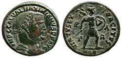 Ancient Coins - GALERIUS MAXIMIANUS AE Follis. EF/EF-. Alexandria mint. VIRTVS EXERCITVS - Mars.