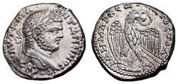 Ancient Coins - CARACALLA AR Tetradrachm. EF+/EF with ORIGINAL BRIGHTNESS. Antioch mint. Eagle over small Club.