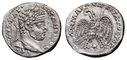 Ancient Coins - CARACALLA AR Tetradrachm. EF/EF+. Laodicea ad Mare mint. 3rd Consulate. SUPERB!