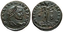 Ancient Coins - LICINIUS I AE Follis. EF+. Thessalonica mint. VIRTVTI EXERCITVS.
