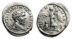 Ancient Coins - SEPTIMIUS SEVERUS AR Denarius. EF-. Laodicea mint. VICT PARTHICAE.