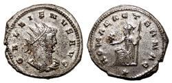 Ancient Coins - GALLIENUS Bi Antoninianus. EF+. FULLY SILVERED. ROMAE AETERNAE.