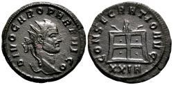 Ancient Coins - CARUS AE Antoninianus. EF/EF-. Siscia mint. CONSECRATIO AVG - Altar.