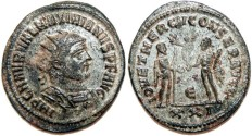 Ancient Coins - MAXIMIANUS I HERCULIUS Bi Antoninianus (pre-reform). SILVERED. Antioch mint. EF. (3,7 g)