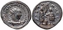 Ancient Coins - VALERIAN I Bi Antoninianus. EF. Samosata mint. PIETAS AVGG. Excellent!