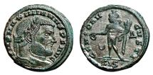 Ancient Coins - GALERIUS MAXIMIANUS AE Follis. EF+/EF-. Siscia mint. GENIO AVGVSTI.