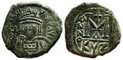 Ancient Coins - HERACLIUS AE Follis. VF+/EF-. Cyzicus mint. Year 1 - AD 610-611.