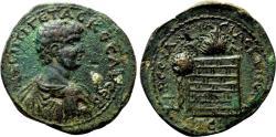 Ancient Coins - AMASIA (Pontus) AE30. Geta. EF-/VF+. Altar of Zeus Strateus.