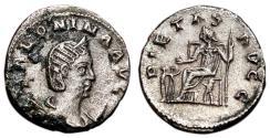 Ancient Coins - SALONINA AR Antoninianus. VF+/EF-. Rome mint. PIETAS AVGG - Three children.