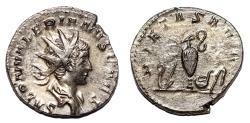 Ancient Coins - SALONINUS AR Antoninianus. EF+/EF. Colonia Agrippina mint. PIETAS - Sacrificial implements.