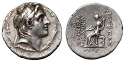 Ancient Coins - DEMETRIOS I SOTER AR Tetradrachm. EF-. Antioch mint. Tyche seated.