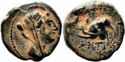 Ancient Coins - ANTIOCHOS IV AE14. VF+/EF-. Laodike IV - Elephant head.