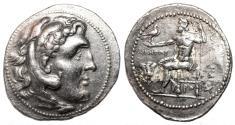 Ancient Coins - ALEXANDER III the Great AR Tetradrachm. VF+. Rhodes mint. Magistrate Ainetor.