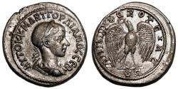 Ancient Coins - GORDIAN III AR Tetradrachm. EF. ORIGINAL LUSTER. Antioch mint. Eagle to left. EXCELLENT!