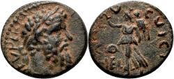 Ancient Coins - HELIOPOLIS (Syria) AE17. Septimius Severus. EF/EF-. Nike.