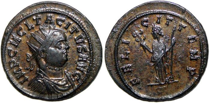 Ancient Coins - TACITUS Bi Antoninianus. Siscia mint. EF/EF-. FELICIT TEMP. Superb coin!!!