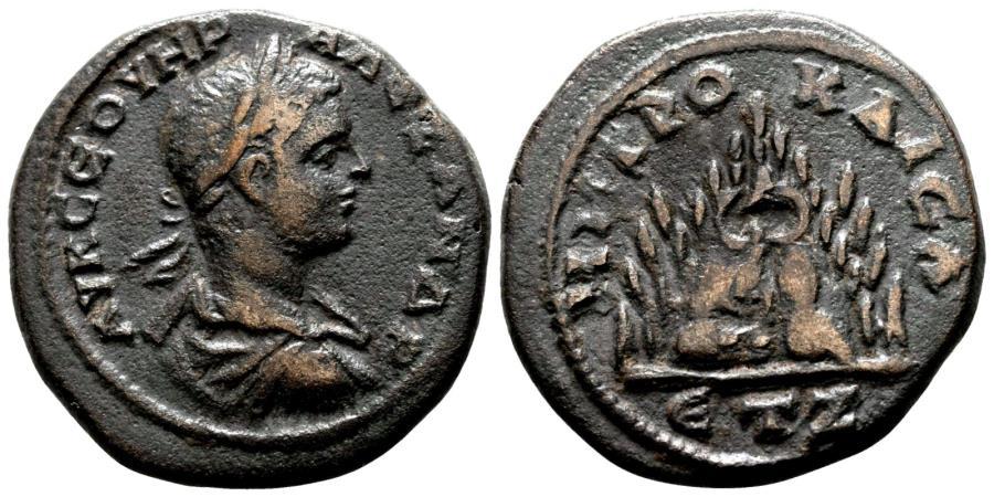 Ancient Coins - CAESAREA of CAPPADOCIA AE27. Severus Alexander. VF+/EF-. Mount Argaeus.