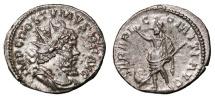 Ancient Coins - POSTUMUS AR Antoninianus. EF/EF-. Treveri mint. SERAPI COMITI AVG. Scarce reverse.