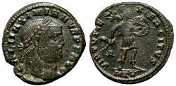 Ancient Coins - GALERIUS MAXIMIANUS AE Follis. EF-. Cyzicus mint. VIRTVS EXERCITVS - Mars.