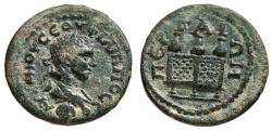 Ancient Coins - PERGE (Pamphylia) AE23. Philip II. EF-/EF. Chest and Purses.