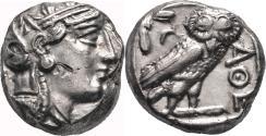 Ancient Coins - ATHENS (Attica) AR Tetradrachm. EF-. Athena - Owl.