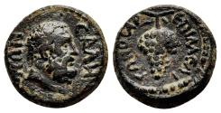 Ancient Coins - SALA (Lydia) AE15. VF+. Magistrate Melitonos. AD 98-117.