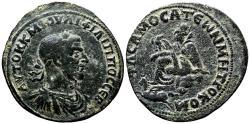 Ancient Coins - SAMOSATA (Commagene) AE32. Philip I the Arab. VF+. Tyche - Pegasus.
