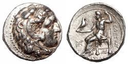Ancient Coins - SELEUKOS I Nikator AR Tetradrachm. EF-/VF+. Sardis mint. 312-281 BC.