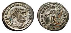 Ancient Coins - GALERIUS MAXIMIANUS Bi Follis. EF/EF-. SILVERED. Cyzicus mint. GENIO AVGG ET CAESARVM NN.