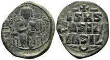 Ancient Coins - Anonymous Byzantine Follis. Constantine IX. Ca. AD 1050-1060. EF-. Constantinople.