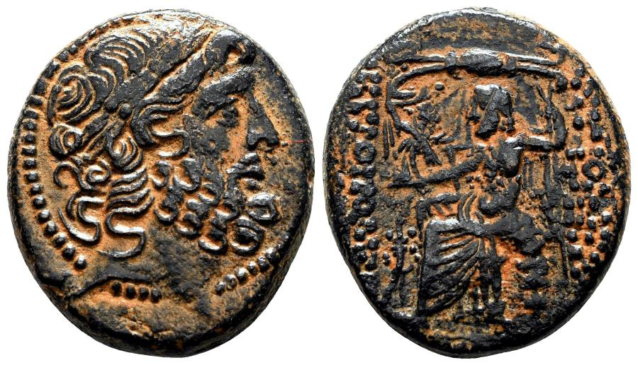 Ancient Coins - ANTIOCH (Syria) AE25 (Tetrachalkon). EF-. Zeus.