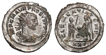 Ancient Coins - PROBUS Bi Antoninianus. EF/EF-. SILVERED. Antioch mint. CLEMENTIA TEMP