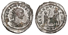 Ancient Coins - PROBUS Bi Antoninianus. EF/EF-. SILVERED. Antioch mint. CLEMENTIA TEMP