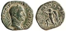 Ancient Coins - TRAJAN DECIUS Æ Sestertius. VF. VICTORIA AVG. Complete!