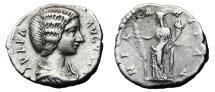Ancient Coins - JULIA DOMNA AR Denarius. VF+. HILARITAS