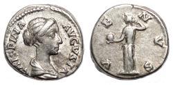 Ancient Coins - CRISPINA AR Denarius. VF+. VENVS.