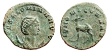 Ancient Coins - SALONINA AE Antoninianus. VF+. Doe - IVNONI CONS AVG. Scarce Reverse.