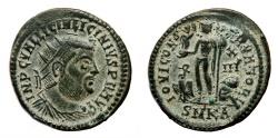 Ancient Coins - LICINIUS I AE Follis. EF. Cyzicus mint. IOVI CONSERVATORI. Radiated Bust.