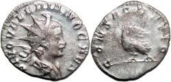 Ancient Coins - VALERIAN II Bi Antoninianus. VF+. CONSACRATIO. Scarce in this condition!