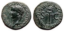 Ancient Coins - TIBERIUS AE As. EF-/EF. Winged Caduceus - SC.