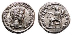 Ancient Coins - SEPTIMIUS SEVERUS AR Denarius. EF. Laodicea mint. MONETA AVGG.