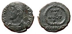 Ancient Coins - JOVIAN AE3 (Centenonial). EF+/EF. Heraclea mint. VOT V MVLT X.