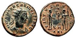 Ancient Coins - CARINUS Bi Antoninianus. EF. Antioch mint. VIRTVS AVGG.