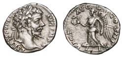 Ancient Coins - SEPTIMIUS SEVERUS AR Denarius. EF-. Victory - VICT AVGG COS II P P. Early Issue.