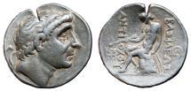 Ancient Coins - ANTIOCHOS II THEOS AR Tetradrachm. Seleucia on the Tigris mint. VF.