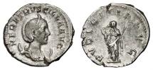 Ancient Coins - HERENNIA ETRUSCILLA AR Antoninianus. EF-. PVDICITIA AVG. Very nice coin.